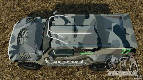 Hummer H3 raid t1 für GTA 4 rechte Ansicht
