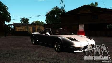 Acura NSX Stock pour GTA San Andreas vue arrière
