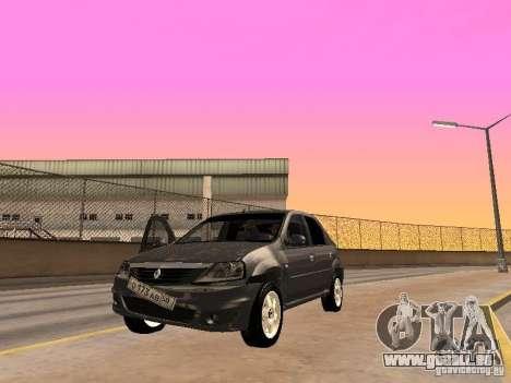 Renault Logan pour GTA San Andreas vue arrière
