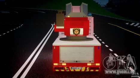 Scania R580 Fire ladder PK106 [ELS] für GTA 4 Innen