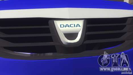 Dacia Logan MCV Facelift für GTA San Andreas zurück linke Ansicht