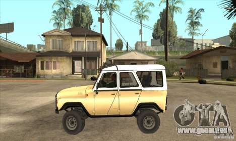 UAZ 31514 pour GTA San Andreas laissé vue