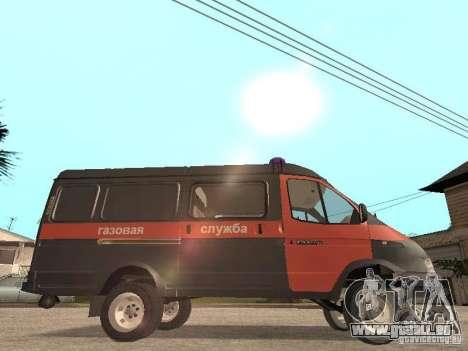 2705 Gazelle Gas service für GTA San Andreas zurück linke Ansicht