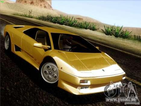 Lamborghini Diablo VT 1995 V3.0 für GTA San Andreas Rückansicht