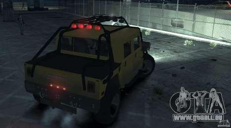 Hummer H1 4x4 Extras pour GTA 4 Vue arrière de la gauche