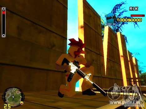 White Chrome Guns für GTA San Andreas her Screenshot