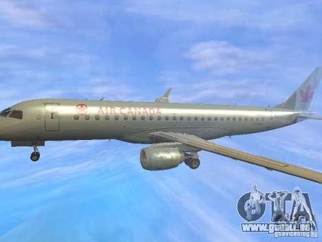 Embraer ERJ 190 Air Canada für GTA San Andreas obere Ansicht
