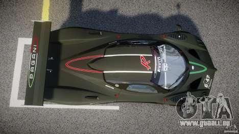 Pagani Zonda R 2009 für GTA 4 obere Ansicht