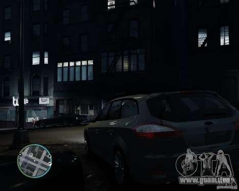 Ford Mondeo Mk4 pour GTA 4 est une gauche