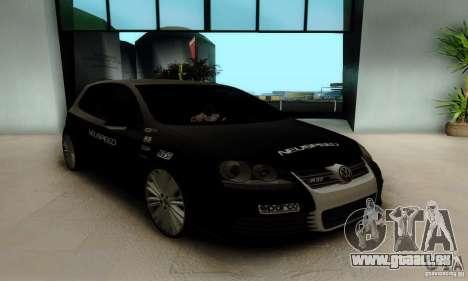 Volkswagen Golf R32 für GTA San Andreas Rückansicht