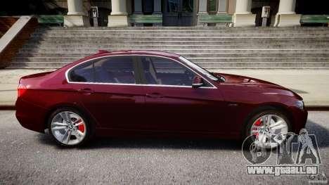 BMW 335i 2013 v1.0 pour GTA 4 vue de dessus