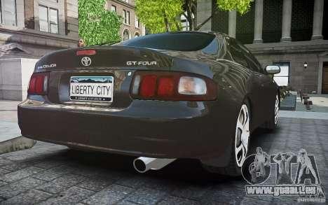 Toyota Celica GT-FOUR für GTA 4 Rückansicht