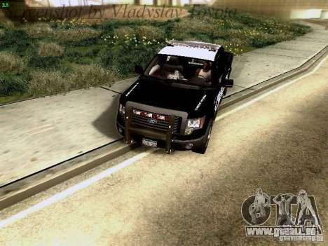 Ford F-150 Interceptor pour GTA San Andreas vue intérieure