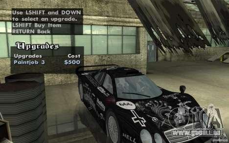 Mercedes-Benz CLK GTR road version (v2.0.0) für GTA San Andreas Seitenansicht