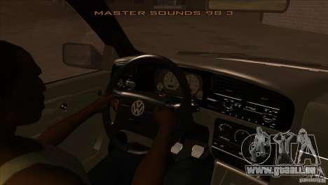 Volkswagen Golf MK3 VR6 pour GTA San Andreas vue intérieure