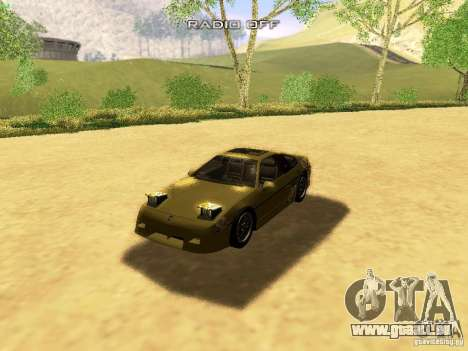 Pontiac Fiero V8 für GTA San Andreas Innen