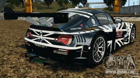 BMW Z4 M Coupe Motorsport pour GTA 4 Vue arrière de la gauche