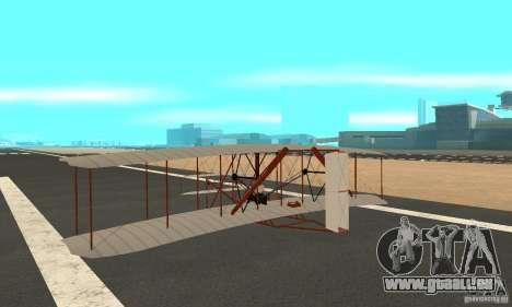 The Wright Flyer für GTA San Andreas zurück linke Ansicht