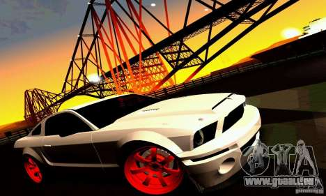 Shelby GT500 KR pour GTA San Andreas roue