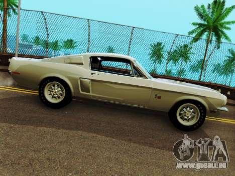 Shelby GT 500 KR pour GTA San Andreas laissé vue