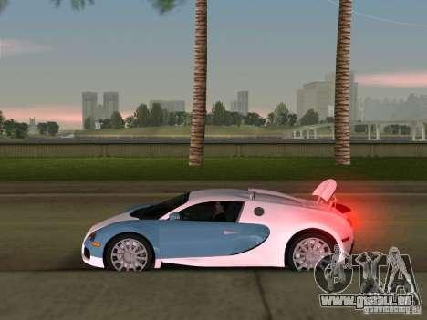 Bugatti Veyron EB 16.4 für GTA Vice City Rückansicht