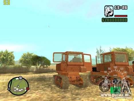 Tracteur DT-75 Postman pour GTA San Andreas vue arrière