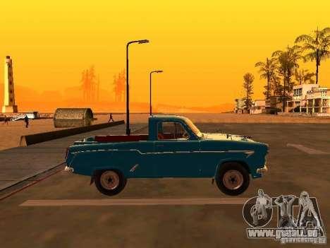 Moskvitch 407 Pickup pour GTA San Andreas laissé vue
