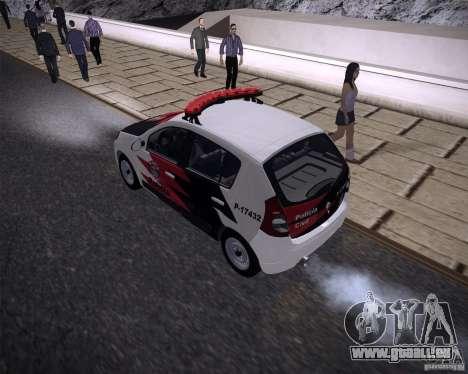 Renault Sandero Policia pour GTA San Andreas laissé vue