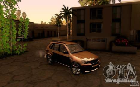BMW X5M  2011 für GTA San Andreas Rückansicht
