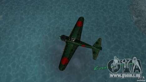 Zero Fighter Plane für GTA Vice City zurück linke Ansicht