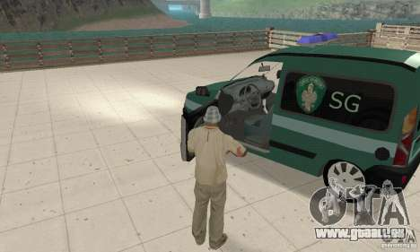Renault Kangoo Straz Graniczna für GTA San Andreas Rückansicht