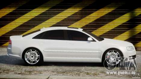Audi S8 D3 2009 für GTA 4 Seitenansicht