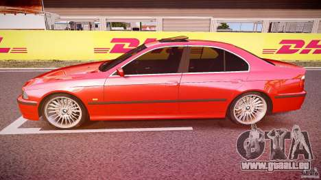BMW 530I E39 stock chrome wheels für GTA 4 linke Ansicht
