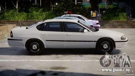 Chevrolet Impala Unmarked Police 2003 v1.0 [ELS] pour GTA 4 est une gauche