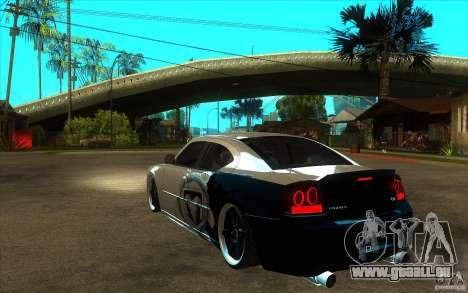 Dodge Charger SRT8 Tuning pour GTA San Andreas sur la vue arrière gauche