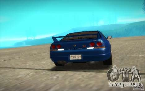Nissan Skyline R33 GT-R V-Spec für GTA San Andreas Innenansicht