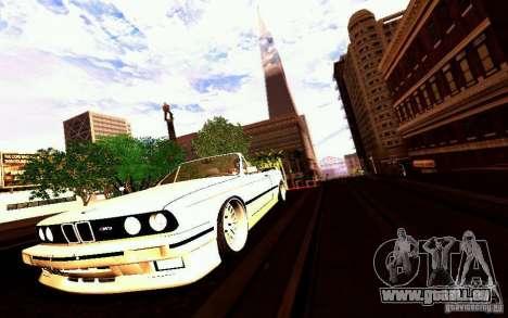 BMW E30 M3 Cabrio pour GTA San Andreas roue
