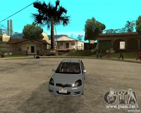 Toyota Vitz pour GTA San Andreas vue arrière