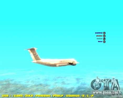 Lockheed C5-M Super Galaxy pour GTA San Andreas laissé vue