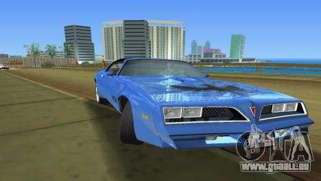 Pontiac Trans Am 77 pour une vue GTA Vice City de la droite