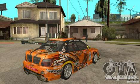 Subaru Impreza D1 WRX Yukes Team Orange pour GTA San Andreas vue de droite