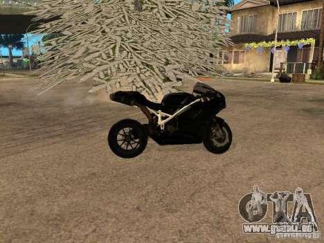 Ducati RS09 pour GTA San Andreas sur la vue arrière gauche