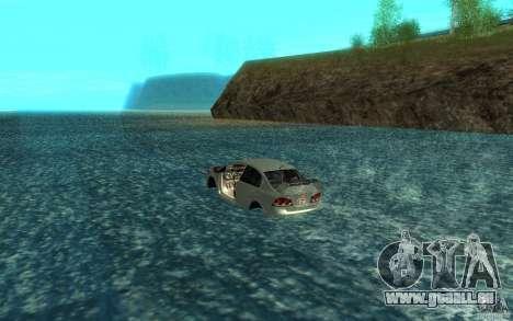 Honda Civic Mugen RR Boat pour GTA San Andreas sur la vue arrière gauche
