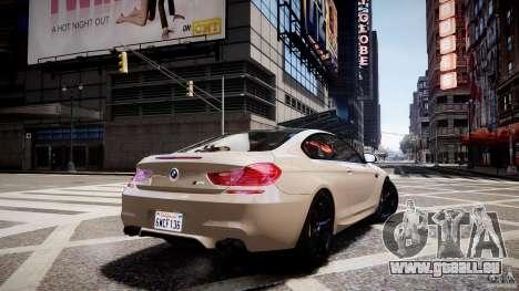 BMW M6 2013 pour GTA 4 est une gauche