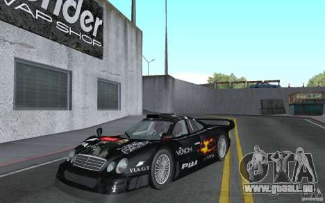 Mercedes-Benz CLK GTR road version (v2.0.0) für GTA San Andreas