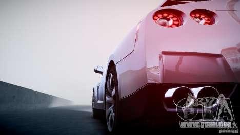 Nissan GT-R R35 V1.2 2010 pour GTA 4 vue de dessus