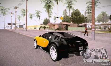 Bugatti Veyron 16.4 EB 2006 pour GTA San Andreas sur la vue arrière gauche