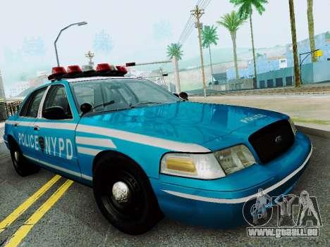 Ford Crown Victoria 2003 NYPD Blue für GTA San Andreas Rückansicht