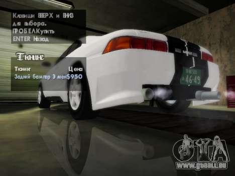 Toyota MR2 GT für GTA San Andreas Unteransicht