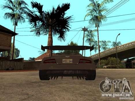 Aston Martin DBR9 Sport pour GTA San Andreas sur la vue arrière gauche